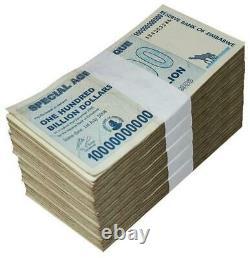 1/2 BRICK 100 Billion Agro Cheque Zimbabwe 2008 Circulated Fine X500pcs