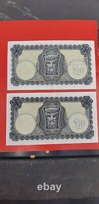 10 Pounds 20 Pounds 8 Banknote Set Eire Lady Lavery Bank of Ireland Pound Notes