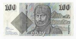 $100 HUNDRED DOLLAR R609 1985 Fraser/Johnston ZDN 335238 CRISP Aus Paper note