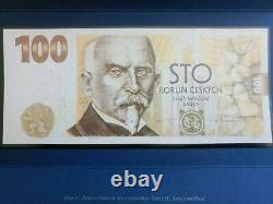 100 Korun/Kronen Czech Republic UNC 2019 commemorative banknote, RARE, Pick #29a