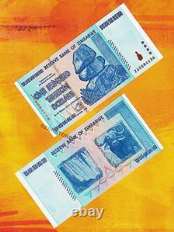 100 Trillion Zimbabwe Dollars Bank Note Very Rare Replacement ZA Prefix 2008 UNC