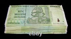 100 x Zimbabwe 10 Trillion Dollar banknotes- paper money currency bundle