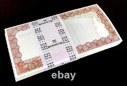 100x Zimbabwe Bearer Check $20000 Unc Banknote 2003 CC P23f Fy Coa Certificate