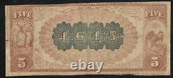 1882 $5 New York, Ny National Bank Note Brown Back 28933