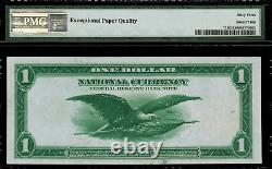 1918 $1 Federal Reserve Bank Note New York FR-711 PMG 63 EPQ Choice Unc