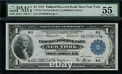 1918 $1 Federal Reserve Bank Note New York FR-712 Graded PMG 55