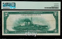 1918 $2 Federal Reserve Bank Note Boston Battleship FR-749 PMG 25