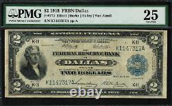 1918 $2 Federal Reserve Bank Note Dallas Battleship FR-777 PMG 25 VF