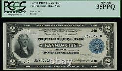 1918 $2 Federal Reserve Bank Note Kansas City Battleship FR-774 PCGS 35PPQ