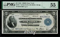 1918 $2 Federal Reserve Bank Note New York Battleship FR-751 Graded PMG 55