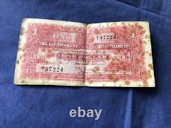 1927 Straits Settlement 1Dollar Banknote