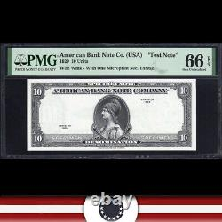 1929 $10 American Bank Note Test Note Pmg 66 Epq 575-005