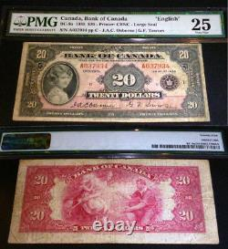 1935 Canada 20 $ Dollars Large Seal Pmg 25 A Canada Classic Banknote
