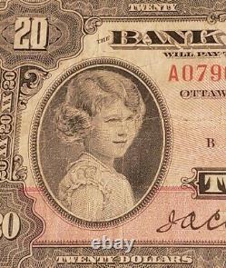 1935 Canada $20. RARE Banknote & Small Seal. English Version