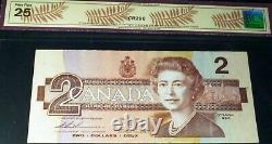 1986 $2 One Digit Solid Numbers Radar Banknote 9999999