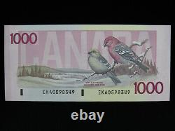 1988 $1000 Dollar Bank of Canada Banknote EKA0598349 Thiessen Crow UNC Grade