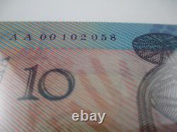 1988 First Polymer Commemorative $10 Note in Folder Prefix AA 00- Rare Note