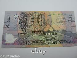 1992 AB19 Fraser Cole $5 LIGHT GREEN Polymer. THE REAL DEAL GENUINE CHOICE UNC