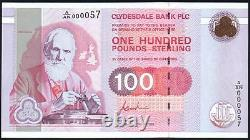 1996 CLYDESDALE BANK PLC £100 BANKNOTE A/AN 000057 LOW NUMBER aUNC