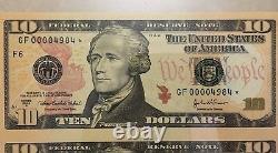 2004a $10 Atlanta Star Sheet Of 4 Banknotes, Pcgs Superb Gem New 68 Ppq