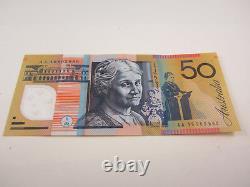2016 Australian 50 Dollar $50 Note Prefix-AA-16 903880 Slightly used + clean