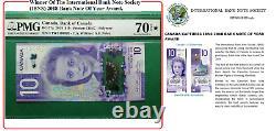2018 Bank Of Canada $10 Viola Desmond Banknote BC-77a PMG 70 EPQ Star Gem UNC
