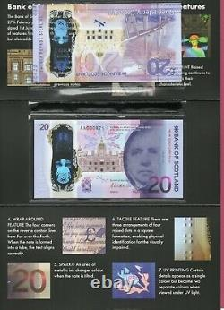 2020 Bank of Scotland £20 Polymer in Folder. Matching Serials AA QC Queensferry
