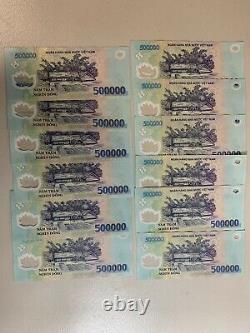 25 Million Vietnamese Dong. 500000 x 50 Vietnam Vnd Cir Banknotes. Buy 500,000 H