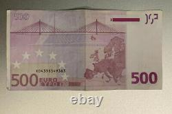 500 Euro Bank note 2002 X series Germany sign by Trichet