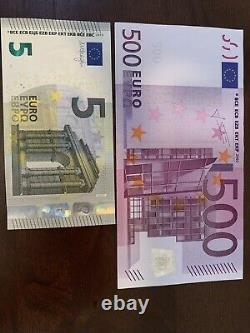 500 Euro Banknote. 500 + 5 Euro Cir. Banknotes. 505 Euros Total. 2 Notes Total h