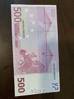 500 euro 2002 banknote Series. 500 Euros Single Cir Banknote Good Condition