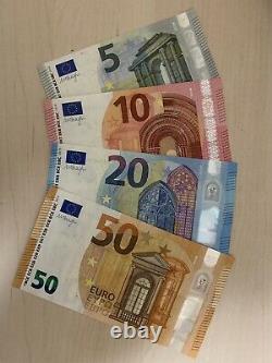 85 Euro euros Total. 50 + 20 + 10 + 5 Euro Banknotes. Cir Notes. 4 Bills. H