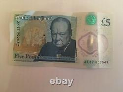 Ak47 607947 Extremely Valuable Collectibles Five Pound Note Rare