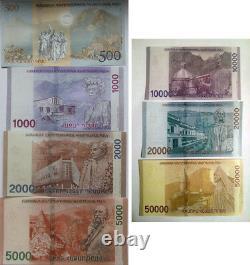 Armenia 2018 Complete Set Banknote 500 1000 2000 5000 10000 20000 50000 Dram UNC