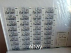 Australia 32pc uncut 100$ banknote sheetno frame, no offers dont wast time