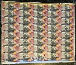 Australia Federation $5 Uncut 2001 Full Sheet Of 40 Semi Solid 777 Mintage 356