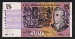 Australia R-202F. (1967) 5 Dollars Coombs/Randall. 1st Prefix NAA. GVF Crisp