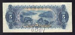 Australia R-42. (1927) Five Pounds Riddle/Heathershaw. Geo V Portrait. Fine+
