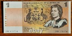 Australia R-71S. (1966) 1 Dollar Coombs/Wilson. STAR Notes. Prefix ZAD. UNC