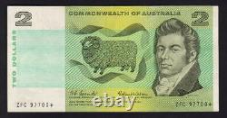 Australia R-81S. (1966) 2 Dollar Coombs/Wilson. STAR Note. ZFC Prefix. VF