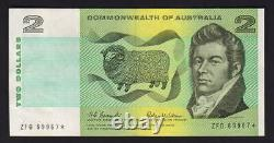 Australia R-81S. (1966) 2 Dollar Coombs/Wilson. STAR Note. ZFG Prefix. GVF
