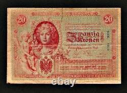 Austria Hungary 20 Korona Kronen 1900 Pick#5. Very rare banknote