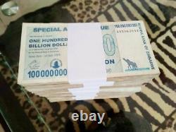 BRICK 100 Billion Agro Cheque Zimbabwe 2008 Circulated Fine X1000pcs