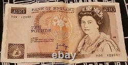 Bank Of England £10 Ten Pound Note 1988-1991 Crisp Old Banknote collectable vint
