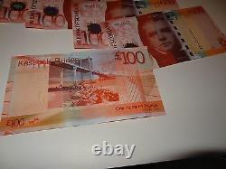 Bank of Scotland £100 banknote, UNC condition