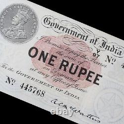 British India. George V, One Rupee Banknote, 1917. With Perforation. McWatters