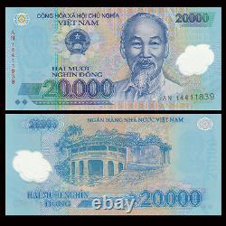 Bundle 100 PCS, Vietnam 20000 Dong, Polymer, 2016, P-120, Banknotes, UNC