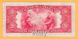 Canada $20 Dollars VF 1935 P-46b BC-9b Small Seal Princess Elizabeth Banknote