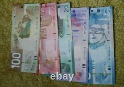 Canada 5 10 20 50 100 Dollars Paper Money 2000s Vintage Banknotes VF/XF Old Bill
