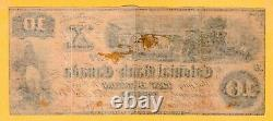 Colonial Bank of Canada Toronto $10 Dollars aXF 1869 Spurious Date Banknote
